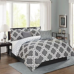 Sweet Home Collection 5 Piece Down Alternative Decorative Fashion Comforter Set, Queen, Gray
