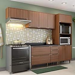 Multimóveis Cozinha Compacta 5 Peças 9 Portas Calábria Nogueira Multimóveis