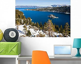 Wallmonkeys Emerald Bay in Winter Wall Decal Peel and Stick Graphic WM26627 (36 in W x 24 in H)