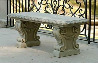 Campania International Outdoor Campania International Longwood Main Fountain Garden Bench Ferro Rustico Nuovo - BE-33-FN