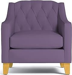 Apt2B Jackson Chair - Leg Finish: Natural - Purple Plush Velvet - Accent Chair - Furniture sold by Apt2B