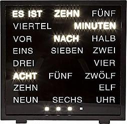 Out of The Blue Horloge LED avec Affichage du Mot Allemand