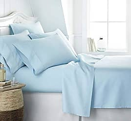 iEnjoy Home Simply Soft SS-6PC-CALKING-AQUA Bed Sheet Set, Calking, Aqua
