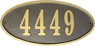QualArc Claremont Oval Address Plaque Bronze - CLAR-OVL-BZ