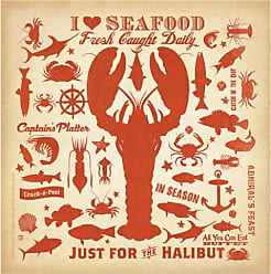 Thirstystone 4-Piece I Love Seafood Coaster Set