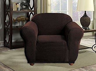 Duck River Textile Quick Fit Hayden Reversible Furniture Protector Slipcover, CHAIR, Brown
