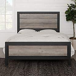 Walker Edison WE Furniture Queen Bed, Grey Wash