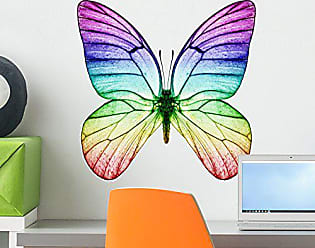 Wallmonkeys FOT-32988826-18 WM275622 Butterfly Rainbow Colors Peel and Stick Wall Decals H x 18 in W, 18 18 W-Small