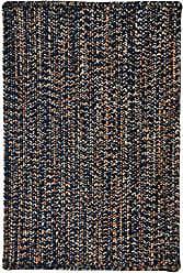 Capel Rugs 0301RS03000500480 Team Spirit Area Rug, 3 x 5, Navy Orange