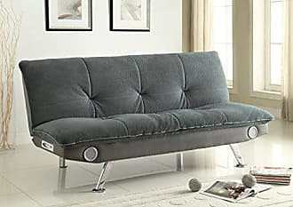Coaster Sofa Bed with Built-In Bluetooth Speakers Grey