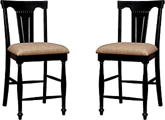 FURNITURE OF AMERICA CM3199BC-PC-2PK Sabrina Counter Height Chair Set of 2 Dining