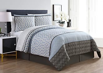 VCNY Adam Geometric 8 Piece Reversible Bed in a Bag by VCNY Home Light Blue, Size: Queen - ADA-8CS-QUEN-IN-LB
