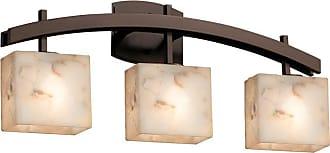 Justice Design Group Alabaster Rocks Archway ALR-8593-55 Bathroom Vanity Light - ALR-8593-55-DBRZ-LED3-2100