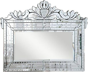 Elegant Furniture & Lighting Venetian Wall Mirror - 42.5W x 32.3H in. - MR-2005C