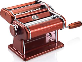 Marcato Máquina de Macarrão Manual ATLAS 3 tipos de Massa MARCATO Vermelha