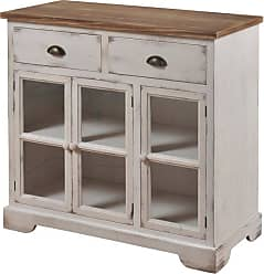 StyleCraft Shabby Chic 3 Door 2 Drawer Window Pane Accent Cabinet - SF24963DS
