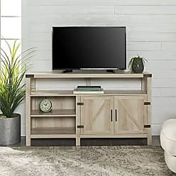 Walker Edison WE Furniture W58BDHBWO Tall TV Stand 58 White Oak