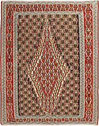 Nain Trading Kilim Senneh Rug 51x41 Beige/Brown (Iran/Persia, Wool, Hand-Knotted)