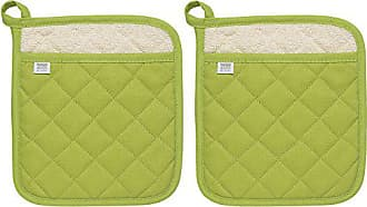 Now Designs Superior Potholders, Set of Two, Cactus Green