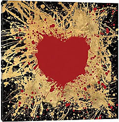 iCanvas Heart of Gold I Canvas Print, 18 x 18