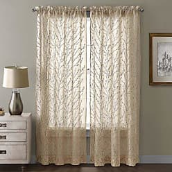 VCNY Home VCNY Berkley Window Panel and Valance, 54 by 1 by 95-Inch, Gold