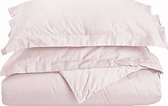 Home City Inc. Superior 100% Premium Combed Cotton, 3 Piece Soft and Smooth Duvet Cover and Pillow Sham Set, Solid, King/California King - Pink