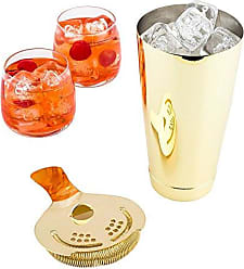 Restaurantware 24-OZ Gold Plated Stainless Steel Boston Shaker Tumbler: Perfect for Bars, Catering Events, and Home Use - Weighted, Professional Grade Bar Shaker Tumbler for Cocktail Mixing - 1-CT - Restaurantware