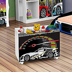 J&A Moveis Caixa Organizadora Brinquedos de Criança Drift Cor Branca