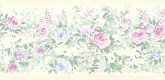 Brewster Home Fashions Caroline Floral Garden Wall Border - 413B1375