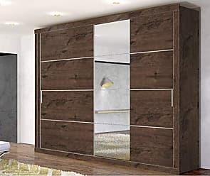 Zanzini Móveis Guarda Roupa Com Espelho Zanzini Essencial 2 Portas Jacarandá