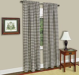 Ben&Jonah Ben & Jonah Ben&Jonah Buffalo Check Window Curtain Panel-42x84-Taupe Collection, Multi