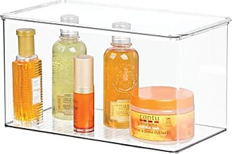 InterDesign Clarity Storage Box Organizer for Beauty Products, Vitamins, Medicine, Medical, Dental Supplies - Large, Clear