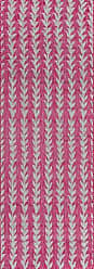Momeni Rugs Novogratz Villa Collection Amalfi Indoor/Outdoor Area Rug, 27 x 76 Runner, Fuchsia