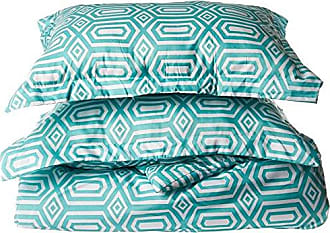 Chic Home Tina Printed Contemporary 3-Piece Duvet Cover Set, Full, Turquoise