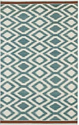 Kaleen Rugs Nomad Collection NOM04-78 Turquoise Flat-Weave 2 x 3 Rug