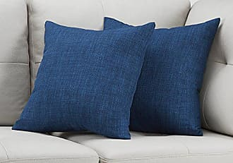 Monarch Specialties I I 9315 Decorative Throw Pillow, 18 x 18, Dark Blue