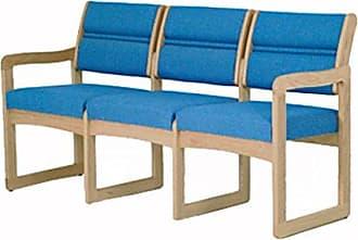 Wooden Mallet DW2-3 Valley 3-Seat Sofa, Light Oak/Cabernet Burgundy