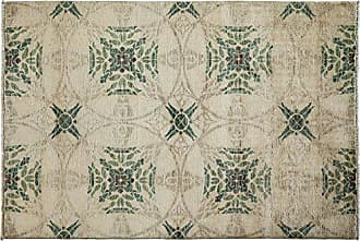 Solo Rugs M1780-48 Eclectic Area Rug Hand Knotted Area Rug, 4 1 X 6 0, Ivory