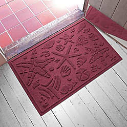 Bungalow Flooring AquaShield Beachcomber Doormat, 2 x 3, Bordeaux