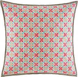 Revman International Nine Palms Geo Square Pillow, 20x20in, Orange