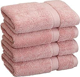 Home City Inc. Superior 900 GSM Luxury Bathroom Hand Towels, Made Long-Staple Combed Cotton, Set of 4 Hotel & Spa Quality Hand Towels - Tea Rose, 20 x 30 Each