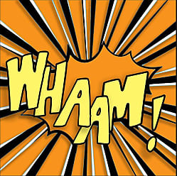 Ptm Images Whaam! Word Bubble Wall Art - 9-87865