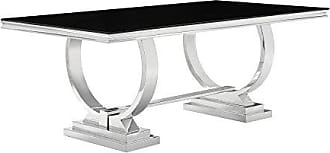 Coaster CO-107871 Dining Table, Stainless Steel in Chrome