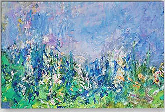 WEXFORD HOME Claude Monet Lavender Fields Gallery Wrapped Canvas Wall Art, 24x36, Multicolor