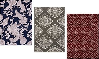 VCNY Home Medallion Botanical Area Rugs - Gray - Size: 24x36