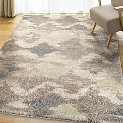 Orian Rugs Super Shag Collection 392715 Harlequin Area Rug, 710 x 1010, Beige