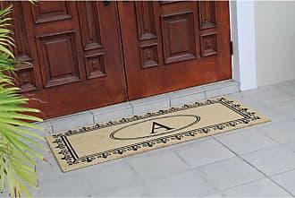 First Impression Quinton Monogrammed Coir Indoor/Outdoor Door Mat - PT5002-M