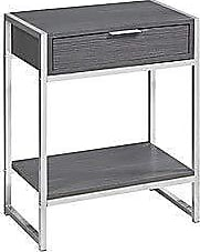 Monarch Specialties I I 3484 Accent, END Table, Night Stand, Grey