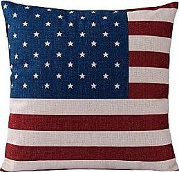 Varaluz Casa 424A02 American Flag Square Throw Pillow