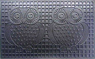 Geo Crafts Rubber Two Owls Doormat